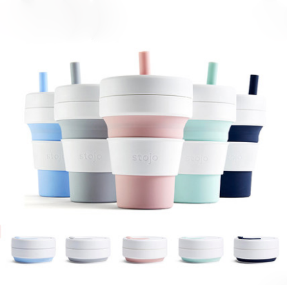 美国Stojo便携旅行折叠水杯压缩杯咖啡杯环保杯logo可yabovip19