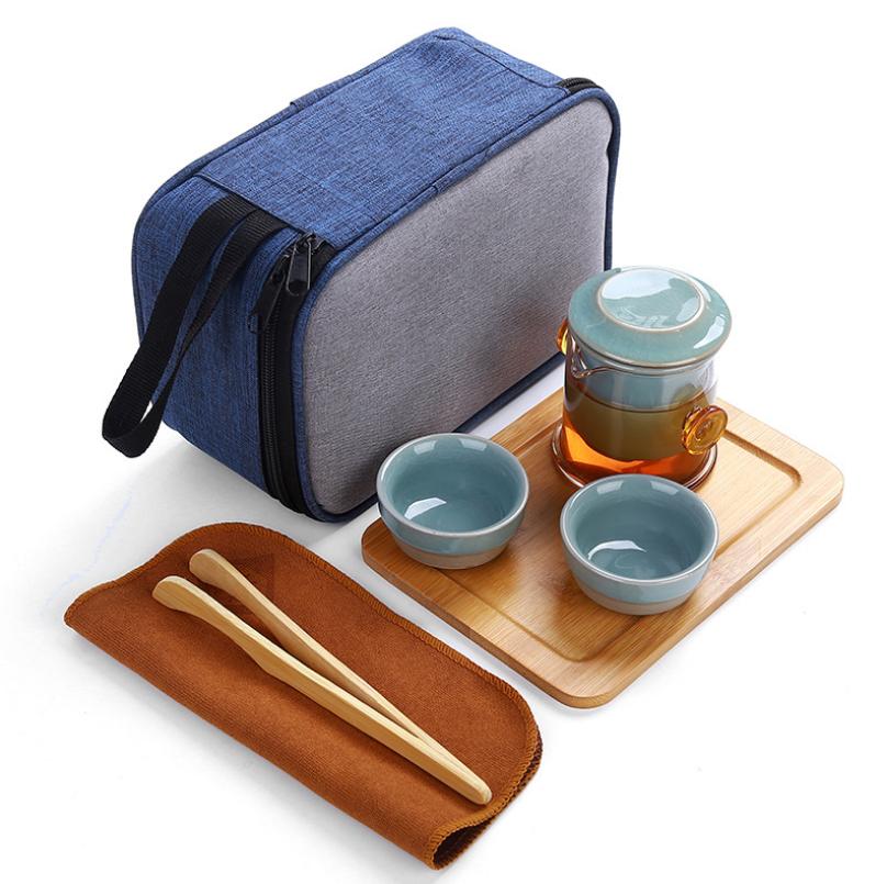 便携式旅行茶具套装哥窑茶具中秋节亚博在线登陆yabovip19logo 亚博在线登陆yabovip19
