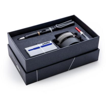 LAMY凌美商务礼盒套装狩猎亮黑色EF笔尖钢笔 商务亚博在线登陆yabovip19