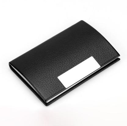 商务名片夹金属翻盖名片盒大容量名片卡片包 展会亚博在线登陆yabovip19