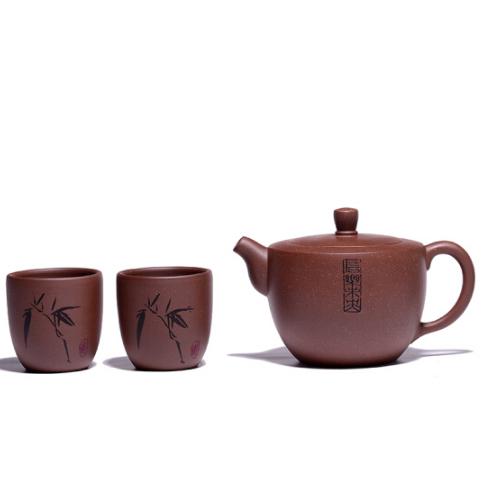 宜兴紫砂壶紫砂茶壶 名师 一壶两杯 手工精制 商务亚博在线登陆