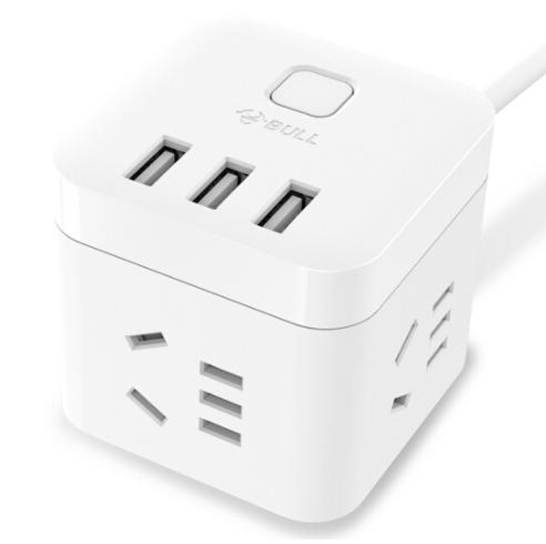 公牛魔方智能USB插座  GN-U303U 白色魔方 企业亚博在线登陆yabovip19