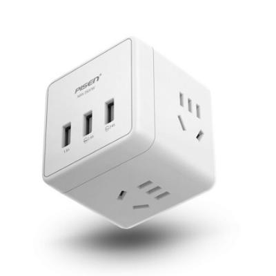 品胜魔方插座USB充电器多功能智能插头KU-43 亚博在线登陆yabovip19