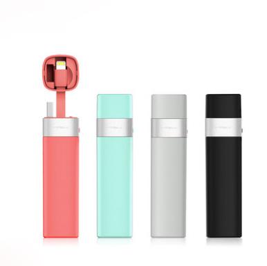 MIPOW充电宝超薄小巧便携迷你自带线移动电源 亚博在线登陆yabovip19
