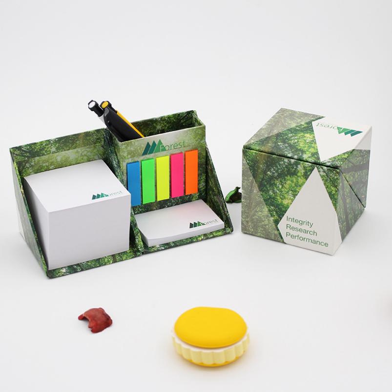 yabovip19便利贴 彩色便签纸砖笔筒PET亚博在线登陆四方盒组合式创意亚博在线登陆