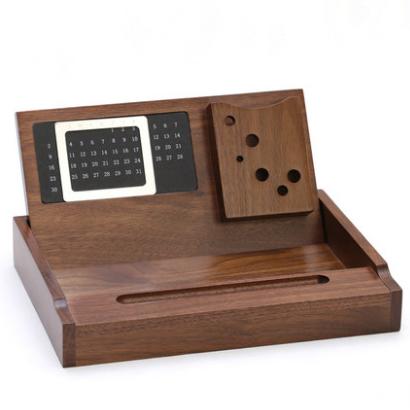 木质多功能办公用品桌面收纳盘文具整理盒办公摆件商务亚博在线登陆