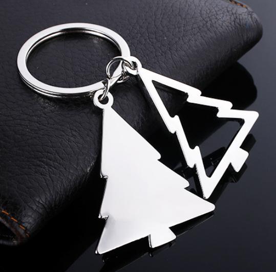 金属圣诞树型钥匙扣汽车钥匙扣促销亚博在线登陆挂件 圣诞钥匙扣yabovip19