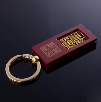 创意小算盘金属钥匙扣yabovip19广告促销挂件亚博在线登陆金属钥匙扣yabovip19