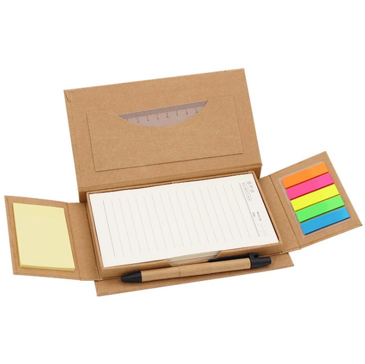 创意翻盖牛皮纸彩色记事便利贴可印刷logo便签盒yabovip19 展会亚博在线登陆