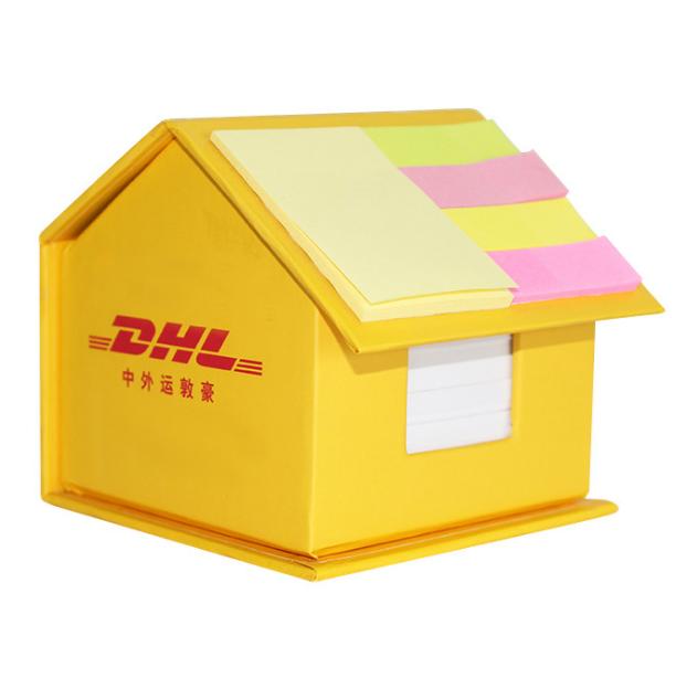 创意小房子便签盒办公送礼便签纸砖印刷logo记事贴 展会亚博在线登陆