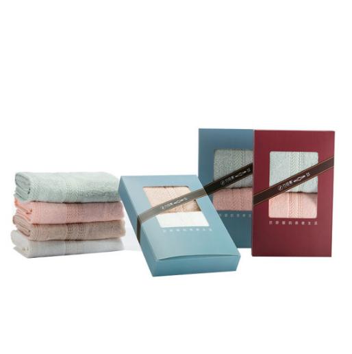 竹印象竹纤维毛巾礼盒两条装银行活动亚博在线登陆 展会亚博在线登陆 可刺绣logo