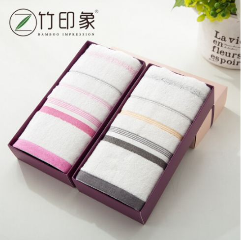 竹纤维雅玉超柔大毛巾单条装盒可印logo展会亚博在线登陆 活动亚博在线登陆赠送