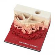 3D立体模型便签本便利贴建筑模型纸雕 长城3D 亚博在线登陆yabovip19