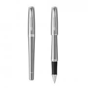 派克 都市系列 金属银白夹签字笔/宝珠笔 商务亚博在线登陆yabovip19
