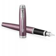 派克 IM丁香紫白夹墨水笔 钢笔 商务馈赠 亚博在线登陆yabovip19