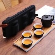 湖畔居 旅行茶具套装 茶杯茶壶带包 整套便携装 商务亚博在线登陆