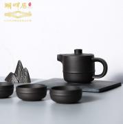 湖畔居 紫砂旅行茶具套装 茶杯茶壶带包整套 企业亚博在线登陆yabovip19