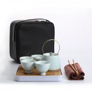 湖畔居 茶具套装 茶壶四茶杯 旅行功夫茶具 商务亚博在线登陆yabovip19