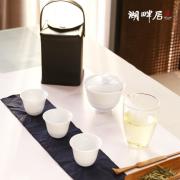 湖畔居 手绘陶瓷盖碗套装 一壶三杯 快客杯 上海亚博在线登陆yabovip19