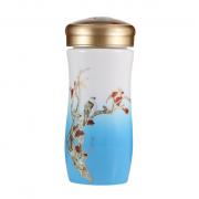 湖畔居 陶瓷茶杯 中国风 双层陶瓷水杯 上海亚博在线登陆公司yabovip19
