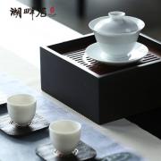 湖畔居 观澜白瓷盖碗 陶瓷盖碗茶杯 功夫茶套装 商务亚博在线登陆yabovip19