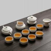 湖畔居 茶具套装 白玉瓷 整套功夫茶具 上海企业亚博在线登陆yabovip19