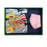 端午节亚博在线登陆 原创丝巾口罩两件套 真丝组合亚博在线登陆套装