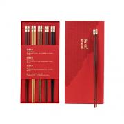 清朴堂 尊贵五色红木筷子礼盒 品宴5双装 企业亚博在线登陆yabovip19
