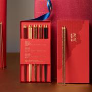清朴堂 五小福·红木筷 五色筷 高档红木 中式礼盒 商务亚博在线登陆yabovip19