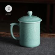 尚唐龙泉青瓷办公杯大容量男士茶杯 游龙杯 送客户亚博在线登陆yabovip19