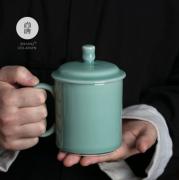 尚唐龙泉青瓷 办公杯  手工陶瓷 茶杯礼盒装 商务亚博在线登陆yabovip19