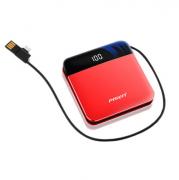 品胜 充电宝1w毫安 移动电源 半屏自带线 D71 商务亚博在线登陆
