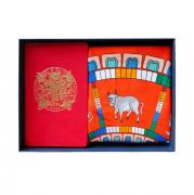 牛年真丝 丝巾记事本商务套装 新年礼盒 商务亚博在线登陆yabovip19
