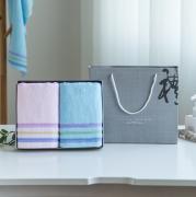 全棉毛巾2条套装企业亚博在线登陆赠品yabovip19logo纯棉毛巾礼盒装 伴手礼